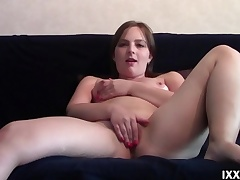 Young broad in the beam unspecific Sofy masturbate pussy
