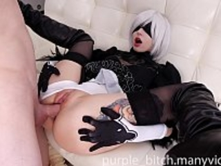 2B Buttfuck and labia smash with Internal ejaculation Teenage young First-timer Big Rump Rear end Sperm Sperm cute chick babe Purple Bitch Deepthroat Trunk