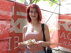 GERMAN SCOUT - Ginger-haired College Nubile Jenny Pound at Casting